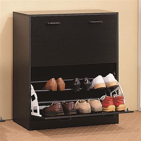 Shoe Rack   Two Tier Cappuccino Shoe Rack Closet Storage