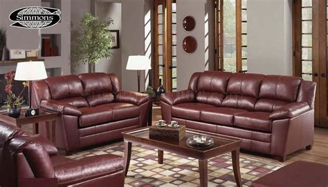 wine and couch 4955 wine bonded leather sofa loveseat set by just in time