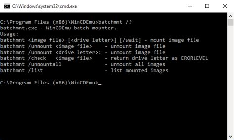 less pattern command line tutorial using wincdemu from command line