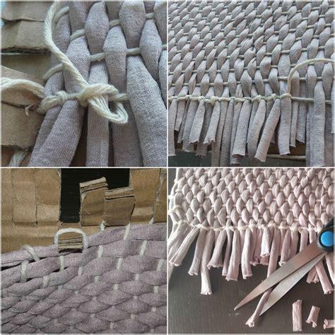 como hacer alfombra trapillo alfombra de trapillo nudos idea de la imagen de inicio