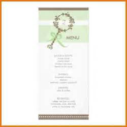 Baby Shower Menu Template Free baby shower menu template free 5 best agenda templates