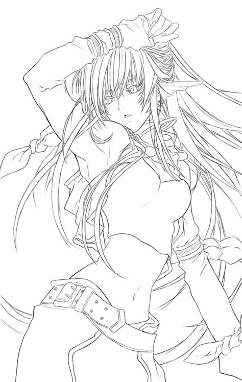 Sheila Lineart By Northdream On Deviantart Anime Coloring Pages Deviantart Free