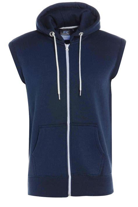 Hoodie Zipper Franky C3 new mens boys sleeveless plain gilet hoodie zip up fleece hooded sweatshirt tops