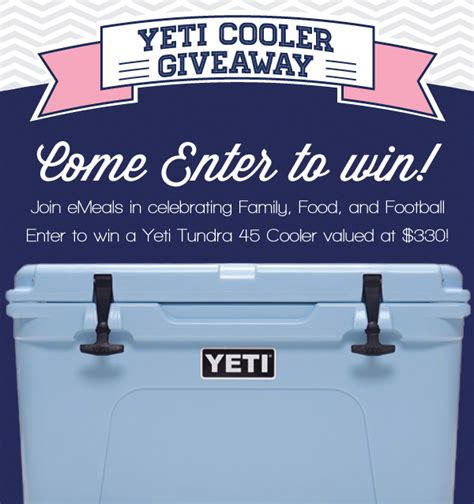 Yeti Cooler Giveaway - family food football the emeals blog