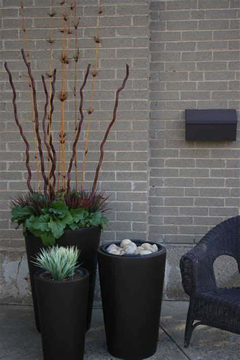 Modern Planters Toronto by Seasonal Urns Fall Modern Outdoor Pots And Planters