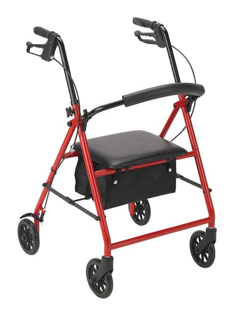 rolling walker with seat medicare rollator with 6 quot wheels drive