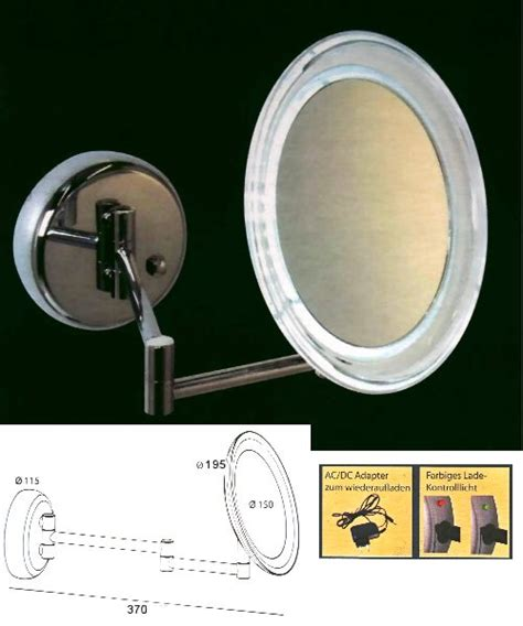 akku beleuchtung kosmetikspiegel und schminkspiegel bavaria b 228 der technik