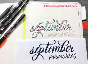 how to use doodle text how to use fonts to draw beautiful titles on your planner