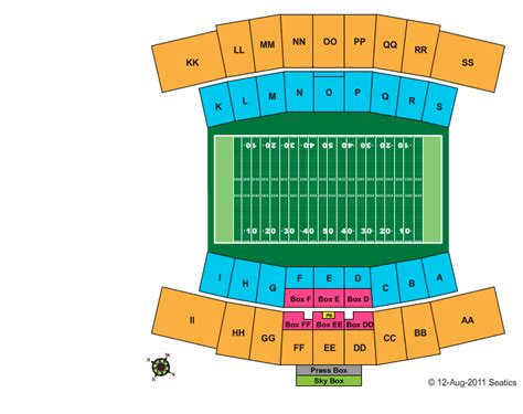 tech stadium seating capacity joe aillet stadium tickets ticketstub 174 your site