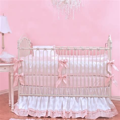 pink and white crib bedding crib linens by bunny blue rosenberryrooms