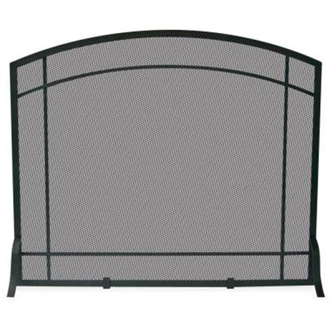 Fireplace Screens Home Depot by Uniflame Black Wrought Iron Single Panel Fireplace Screen