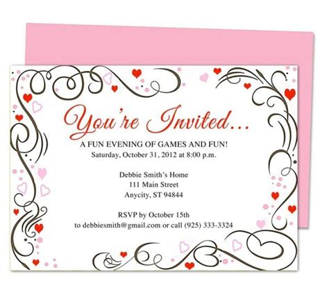 You Re Invited Template Invitation Sle Pinterest Template You Re Invited Template