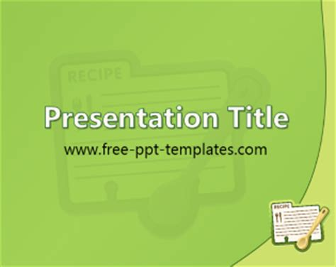 recipe powerpoint template recipe ppt template free powerpoint templates