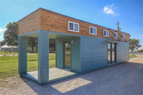tiny house container slick tiny house converted from 40 foot shipping container curbed