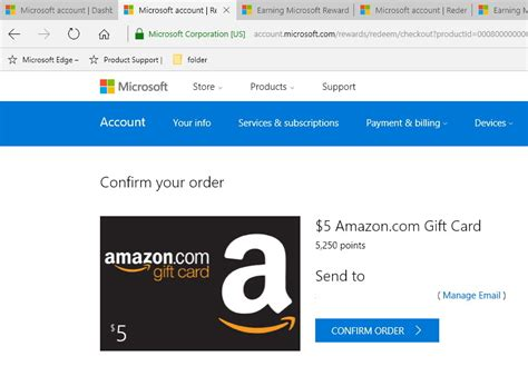 How To Send An Amazon Gift Card By Email - how to score free amazon gift cards using the microsoft rewards program pureinfotech