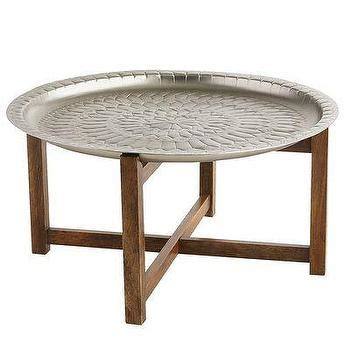 Tremont Black Coffee Table Silver Tray Coffee Table