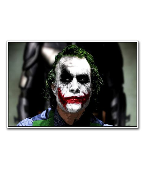 Heath Ledgers Joker Poster Was A by Artifa Heath Ledger Joker From The Rises