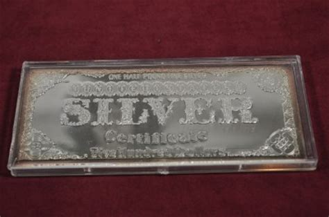 1 Troy Pound Dollar 100 Dollar Note Silver Bar - half pound silver dollar 500 silver bar