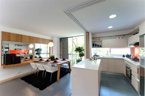 kitchen diner ideas orange white kitchen diner interior design ideas