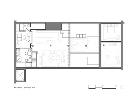 mezzanine floor plan gallery of tribeca loft andrew franz architect 10