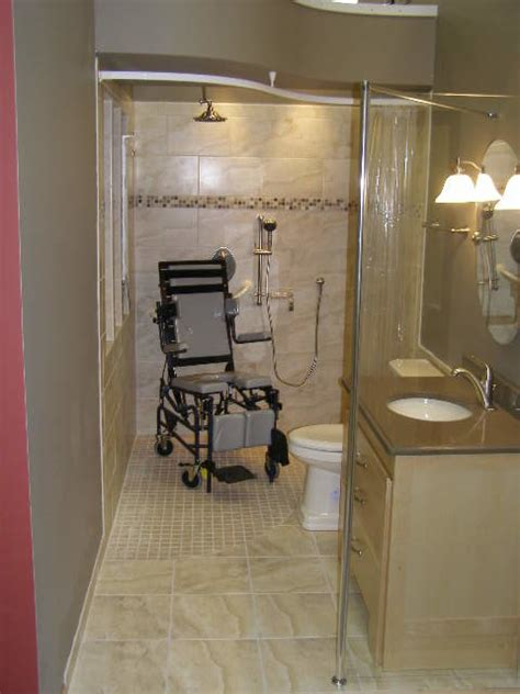 handicap bathrooms designs handicapped accessible universal design showers bathroom cleveland by innovate building