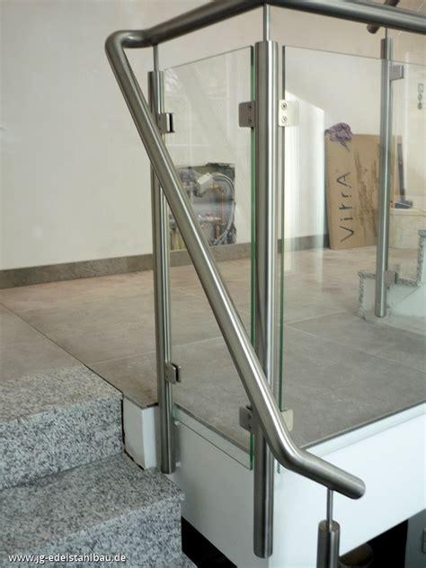 treppengeländer glas bausatz edelstahlgel 228 nder mit glas balkongel nder balkon