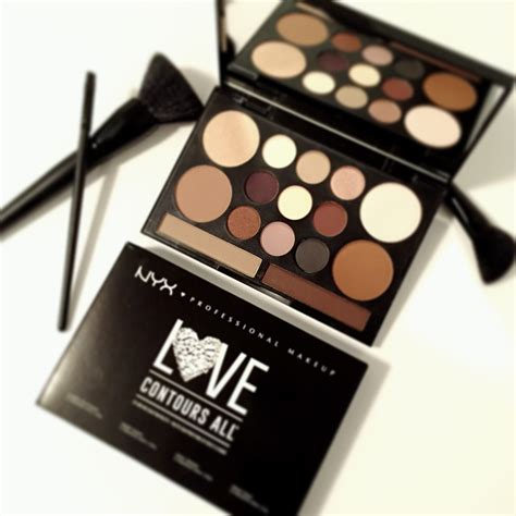 Nyx Make Up Palette Eye Shadow Lipstick Blush On Foundation Palet nyx cosmetics contours all eye and palette