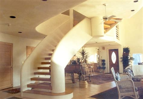 dome home interior design eye of the storm monolithic dome home many curves the grand staircase to the third level