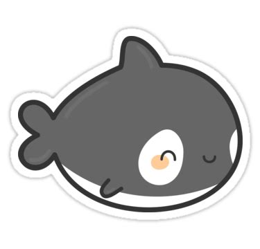 """""""cute killer whale"""" stickers by peppermintpopuk   redbubble"""