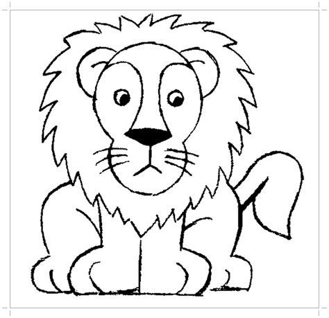 lion coloring pages preschool and kindergarten
