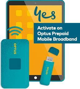 optus prepaid mobile prepaid mobile broadband optus
