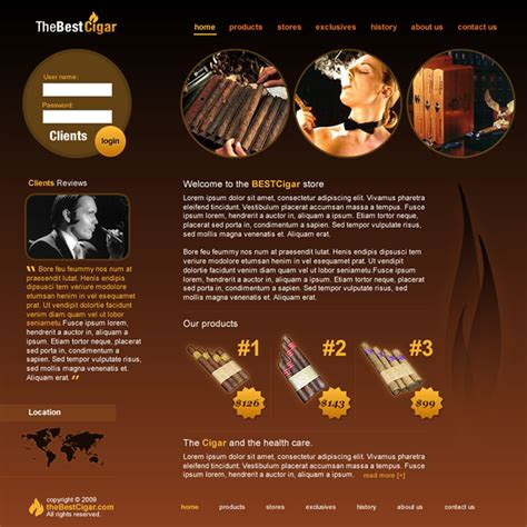 best cigar dreamweaver templates
