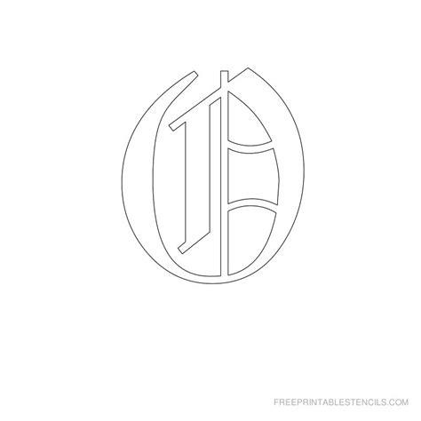 printable old english alphabet stencil d crafts printable old english alphabet stencil o crafts