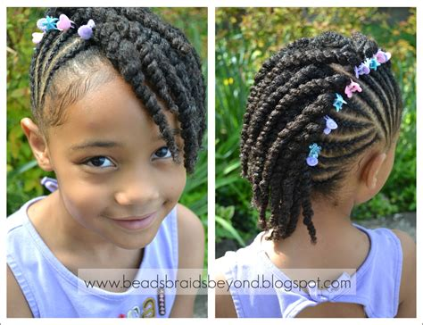 images twist styles for kids beads braids and beyond side cornrows with two strand twists