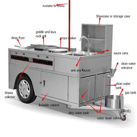 food cart with sink mobile food kitchen tow crown food carts