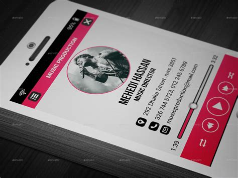 21 music business cards free psd ai vector eps