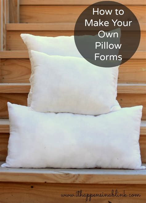 How To Make Your Own Pillow how to make your own pillow forms