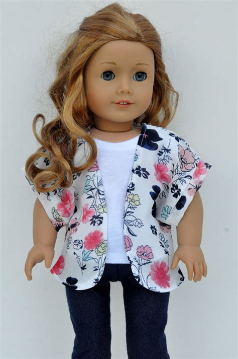 kimono pattern for 18 doll american girl doll clothes pink navy and mint floral print