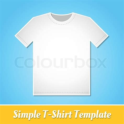 simple t shirt template simple white t shirt template isolated on light blue