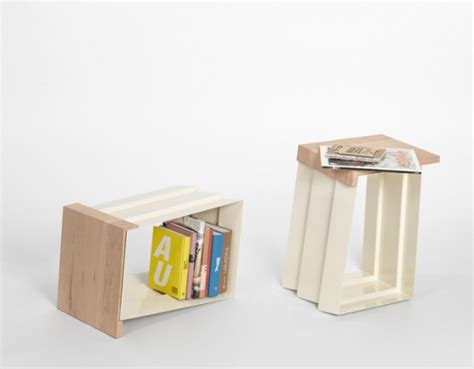bookshelf table and chairs creative chair that can become a side table with book