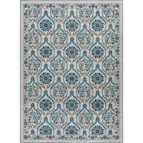 Area Rugs 5 X 7 Tayse Rugs Majesty 5 Ft X 7 Ft Transitional Area Rug Mjs2517 5x7 The Home Depot
