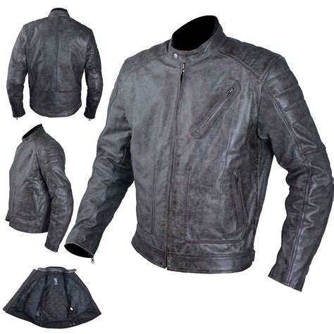 mens moto leather jacket mens motorcycle vintage ce protectors armor