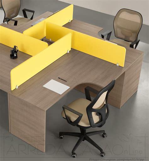 scrivanie componibili scrivanie con divisori per ufficio componibili