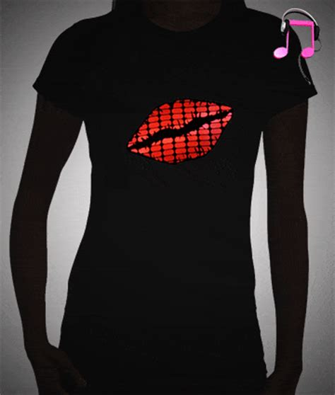 light up t shirt lips equalizer light up t shirt