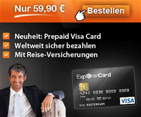 kostenlos schufafrei kreditkarte test vergleich explorercard visa prepaid karte
