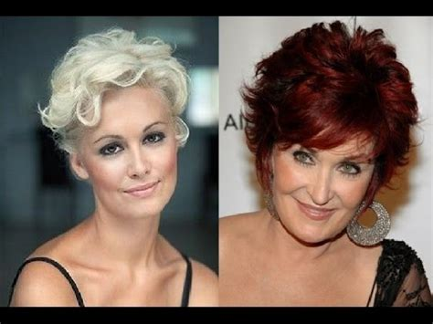 short curly hairstyles for women over 50 youtube