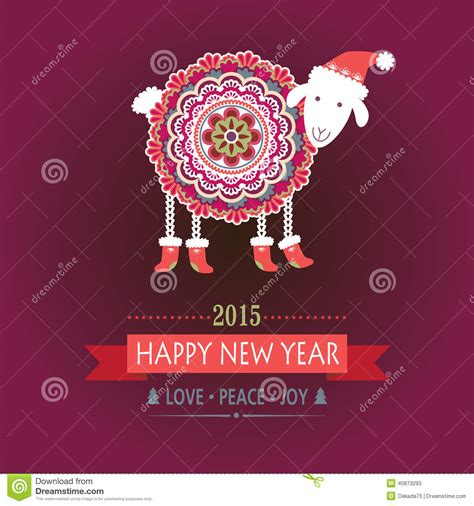 new year color of the year 2015 happy sheep royalty free illustration cartoondealer