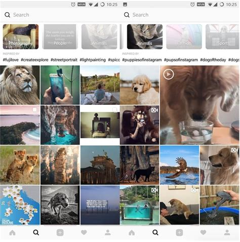 instagram layout tester instagram testing new layout for its explore tab with