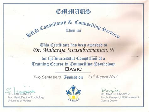 best certificate courses counselling course holistic counselling course