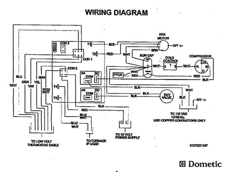 dometic rv ac wiring diagram prod info wiring diagram